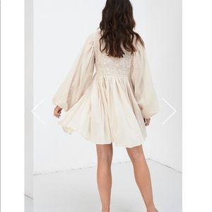Spell & The Gypsy Collective Dresses - Spell Scorpio Cloth Mini Dress Bone